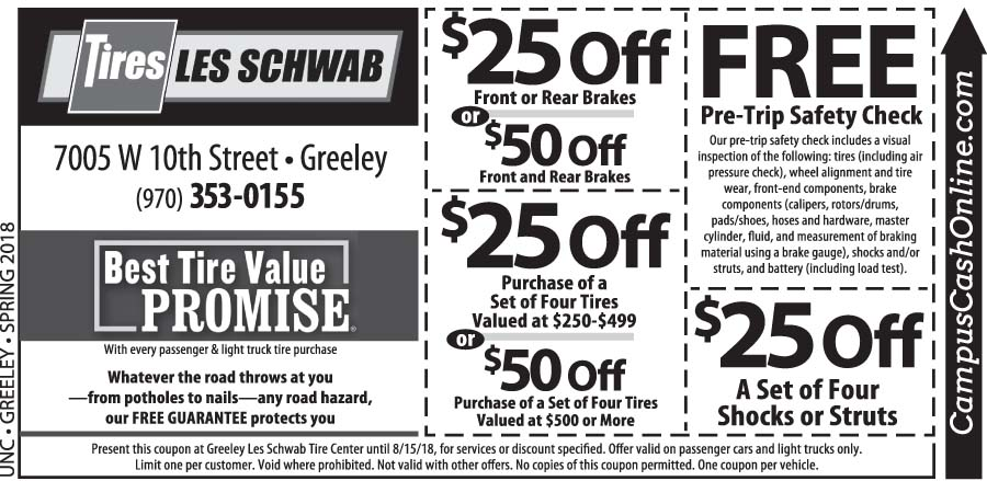 Les Schwab Coupons Colorado Coupon Code For Compact