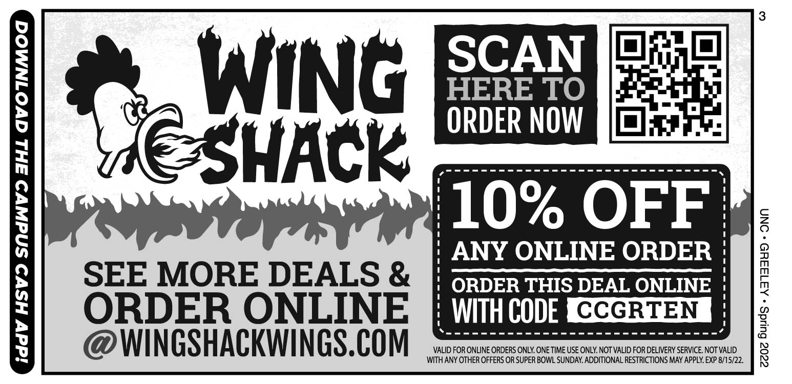 Wing Shack Coupons >> Wing Shack Campus Cash Coupons A Web Coupon Brought To You By